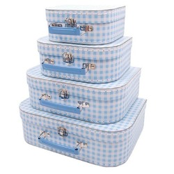 Alimrose Suitcase Blue Gingham