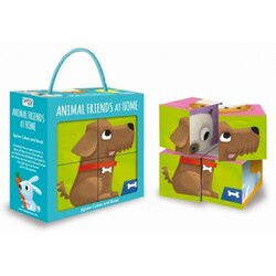 Sassi Cube Puzzle and Book - Animal Friends At Home