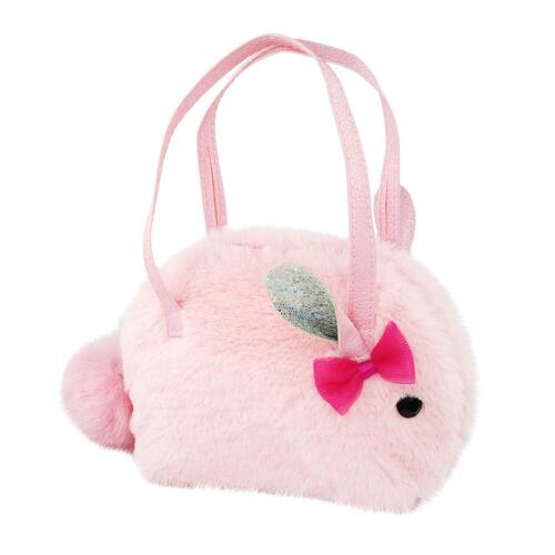 Pink Poppy Into the woods bunny half moon bag | Pink