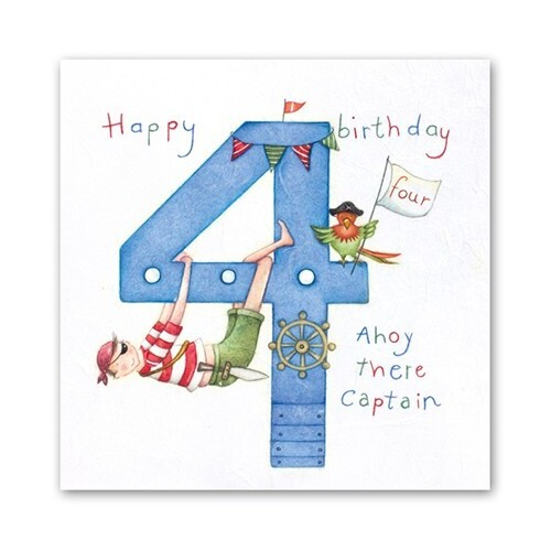 Age 4 Ahoy There Captain Card Boy