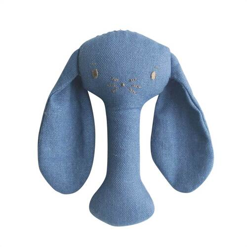 Bobby Bunny Stick Rattle Linen | Chambray